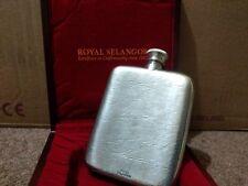 Royal Selangor Pewter Hip Drink Flask Lined Wooden Presentation Case VGC Rare