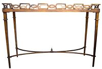 Hollywood Regency Antique Gold Console Table