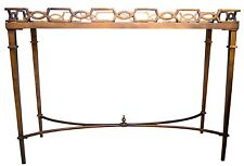 "Thomas Pheasant for Baker Furniture - ""Bracelet""  Antique Gold Console"