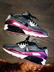 Nike Air Max 90 ID Trainer Shoes Size UK8 EU 42.5 US9 Black/Metallic Pink