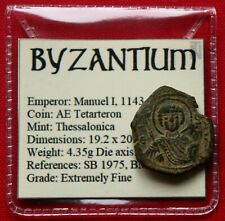 More details for byzantine coin manuel i thessalonica saint george 1180ad xf