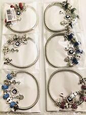 Wholesale 12 Pcs Mix Color Random Style Charms Bracelets Bangle