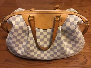 Louis Vuitton Hand Bag Siracusa Whites Damier Azur