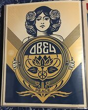 SHEPARD FAIREY OBEY HOLIDAY 2016 SIGNED & NUMBERED SILKSCREEN PRINT (PEACE GIRL)
