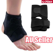 ANKLE BRACE SUPPORT Adjustable Compression Sports Stabilizer Elastic Foot Wrap D