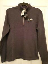NHL Team Apparel Philadelphia Flyers Zippered Long Sleeve Size (Small)