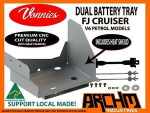 VONNIES DUAL BATTERY TRAY SYSTEM for TOYOTA FJ CRUISER AUS MADE CNC CUT