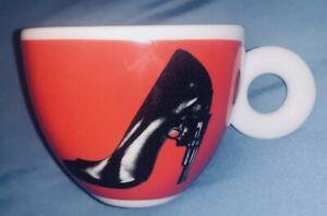 Illy Art Collection '09 Espresso Coffee Cup - Artsy High Heel/Gun Barrel - RARE!