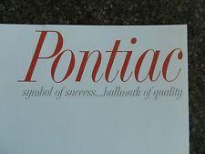 1965 PONTIAC ''RARE'' AUST RHD SALES BROCHURE. 100% GUARANTEE