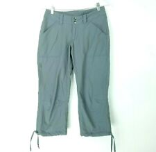 Patagonia Womens Size 2 Pants Capri Outdoor Hiking Nylon Pockets Gray Silver