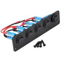 5 GANG LED Kippschalter Wippschalter Schalttafel Boot RV Auto Nebelscheinwerfer
