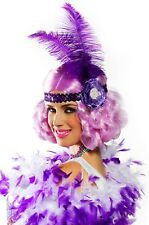 Lilac Curly Flapper Costume Wig Roaring 20s Carnival Festival Mardi Gras