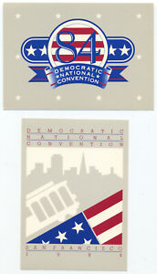 1984 DEMOCRATIC NATIONAL CONVENTION San Francisco CA - 2 Official Postcards