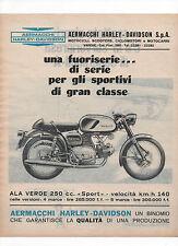 Pubblicità 1967 MOTO MOTOR HARLEY DAVIDSON ALA VERDE SPORT advertising werbung