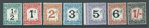 TRANSVAAL 1907 SGD1/7 set of 7 Postage Dues mounted mint (1d no gum). Cat £48