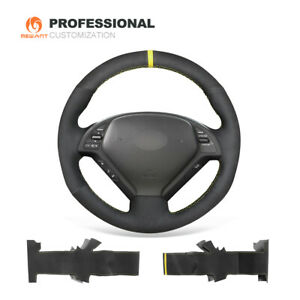 Black Suede Steering Wheel Cover for Infiniti G25 G35 G37 EX35 EX37 Q40 Q60 G28