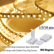 L Shape LED Connector Clip For Connecting Corner Angle 5050 RGB LED Strip Light