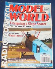 RADIO CONTROL MODEL WORLD MAGAZINE APRIL 1996 - DESIGNING A SLOPE SOARER