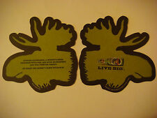2005 Beer Coaster ~ MOOSEHEAD Brewing Canada ~ A Mating Moose Eyes are Bloodshot