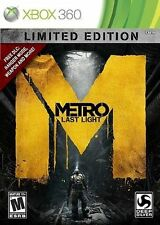 Metro: Last Light -- Limited Edition (Xbox 360, 2013) NEW SEALED