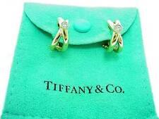 TIFFANY & CO 18K  PALOMA  PICASSO  DIAMOND  HOOP  EARRINGS