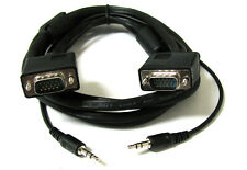 15'FT SVGA Super VGA M Male to Male Cable with 3.5mm Audio for Monitor TV 15FT