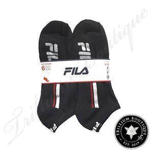 Fila Men's No Show Socks 6 Pairs of Socks Shoe Size 8-12 | Large NWT NEW!