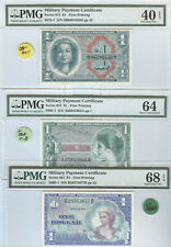 PMG GRADED 3, U.S. $1 MILITARY PAYMENTS CERTIFICATES