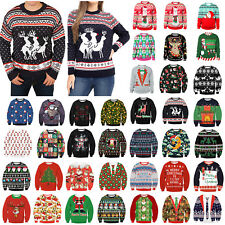 Ugly Christmas Sweater Couples Xmas Jumper Sweatshirt Pullover Tops Hoodies Tee