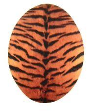 Jeans Applikation  zum Aufbügeln, Bügelbild 4-002 Tiger-Muster (feiner Stoff)