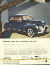 Lincoln Zephyr V-12, Sedan, 2 Door, Vintage 1939 Print Ad