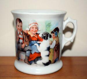 Antique Victorian Nursing Mug (mid 1800's) - Sit up and beg