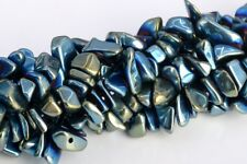 """4x3-10x5MM Green Hematite Pebble Chips Grade AAA Natural Loose Beads 15.5"""""""