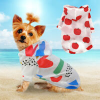 Pet Puppy Summer Shirt Small Dog Cat Pet Clothes Sun Vest T Shirt Beach Style