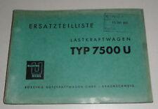 Catálogo de Piezas / Lista de Repuestos Büssing Trambus Tipo 6500T Von 05/1956
