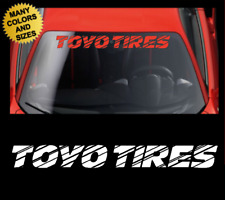 TOYO TIRES Windshield Banner Vinyl Decal Sticker Graphic For Honda & Toyota