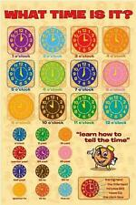 What Time Is It? : Learn to Tell the Time - Maxi Poster 61cm x 91.5cm (new)