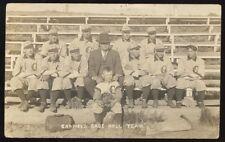 GARFIELD MN Minnesota c1912 RP Garfield Baseball Team