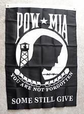 "Pow Mia You Are Not Forgotten Usa Polyester Banner Flag 29 X 42"""