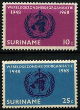 Suriname 1968 SG#631-2 World Health Organisation MNH Set #D34437