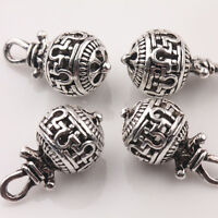 10/20Pcs Tibetan Silver Hollow Out Bead Charms Jewelry Pendants Findings 20*10mm