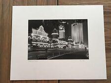 "BRUCE BLUM SIGNED B&W Photo Print (8 3/4""X13 "")- Kuala Lumpur at Night"""