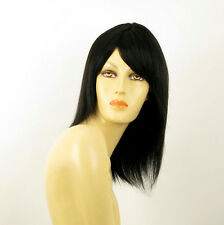 wig for women 100% natural hair black ref IRINA 1B PERUK