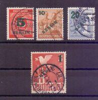 Berlin 1949 - Aufdruck - MiNr. 64/67 gestempelt geprüft - Michel 40,00 € (269)