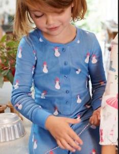 Mini Boden girls all in one pajamas 3 4 5 6 7 8 9 1011 12 13 years snowmen