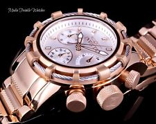 40mm Invicta Women's Bolt Quartz Chronograph White Dial Rose Gold Bracelet Watch