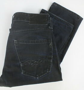 Replay Blue Jeans M983A Homme W31/L34 M Rigide Bouton Fly Jean 23640-JS