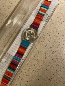 "Swatch Skin ""PAN FLUTE"" SFK372 Watch 34mm 2012 Original Case/Papers"