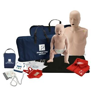 CPR Training Kit w. Adult & Infant Manikin WITH Feedback & AED UltraTrainer