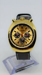 Detroit Mint Mach Bullhead Chronograph Citizen Quartz 40mm Polished Gold